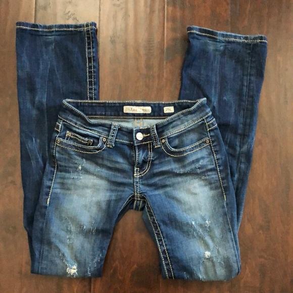 BKE Denim Stella Jeans Distressed Bootleg